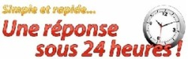 Simple et rapide, une réponse sous 24 heures !